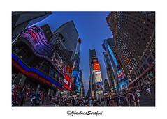 Times Square - NYC (Serapic) Tags: city nyc sunset urban usa ny newyork america cityscape sundown time manhattan sqaure clors landscapre urbanphhtography