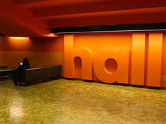 Hall Of Fame (Douguerreotype) Tags: city uk england people urban orange london hall britain barbican gb british