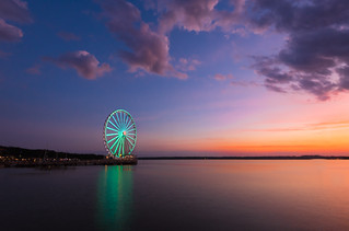 Sunset at the Capital Wheel