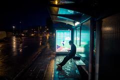 """""""Dans quel tat serez-vous cet t ?"""" (Gilderic Photography) Tags: city boy people man rain night canon dark lights belgium belgique pluie busstop lumiere liege nuit ville g7x beligie gilderic"""