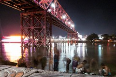 H504_3144 (bandashing) Tags: longexposure bridge england blur men water night river manchester lights movement bath trails dirty clean wash bathe nightlife surma sylhet bangladesh socialdocumentary underthebridge aoa bandashing riversurma keanebridge akhtarowaisahmed
