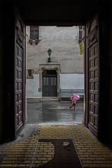 Girl with umbrella (dalibor.papcun) Tags: street door city urban home rain walk go babygirl slovakia kosice koice umrella stphotography