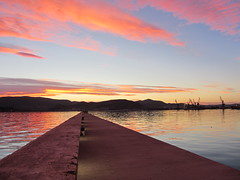 On the way to the sunset ... (kostakai) Tags: sunset greece volos