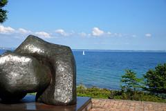 sailing away into the blue (mafiland) Tags: blue sea art nature boat sailing dinamarcadenmark