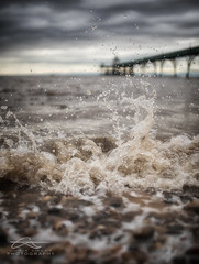 Clevedon Pier (Chris Sweet Photography) Tags: ocean sea seascape detail water dof action bokeh f14 sigma somerset depthoffield splash clevedonpier