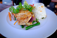 grilled cob & crisp veg (WITHIN the FRAME Photography(5 Million views tha) Tags: food fish vegetables healthy fuji rice tasty colourful grilled plated xt1