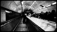 Descending (Happydays 65) Tags: street city england urban london lines station architecture dark underground lumix climb blackwhite moving stair pattern cityscape metro geometry sinister capital escalator tube descent streetphotography tunnel gritty symmetry stairway diagonal panasonic urbanexploration elements transportation unfinished aviary londontube descend circleline oyster railing centralline descending tfl passingby vanishingpoints movingstairs urbanscenery flickritis pancakelens touchandgo flickrworldwide urbanwandering 14mmlens panasonicgx7 happydays65 transportofallsorts