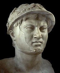 Ancient Greece. A marble bust of Pyrrhus, King of Epirus (r. 306 - 302 BCE and 297 - 272 BCE), National Archaeological Museum, Naples (mike catalonian) Tags: king ancientgreece epirus pyrrhus ivcenturybce iiicenturybce