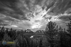 Ansel's View B&W (Theaterwiz) Tags: sunset snakeriver grandtetons grandtetonnationalpark tetonsunset snakeriveroverlook theaterwiz michaelcriswellphotography