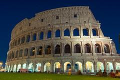 Colosseum (nick88msn) Tags: street travel light sky italy rome roma architecture night clouds europe italia roman forum amphitheatre colosseum starts blending