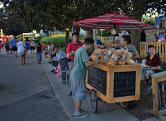 Philly Pops For Sale (raymondclarkeimages) Tags: raymondclarkeimages rci 8one8studios pictureof popcorn pops people canon 6d philly 2470mm28 street philadelphia pennslanding food cart outdoor kettlekorn caramelcorn corn public variety vendor foodvendor