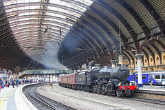 Scarborough Spa Express (96tommy) Tags: york uk roof england london station train photography scotland photo britain great transport traction engine scottish railway class steam transportation gb scarborough express railtour spa midland the carnforth lms 8f stanier 48151