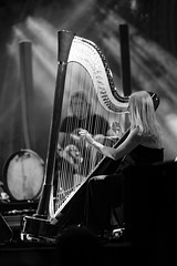 The girl with the harp (bbarekas) Tags: bw music girl germany group jazz athens greece harp technopolis attiki gazi quadronuevo evelynhuber 16thjazzfestival
