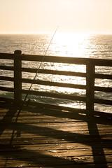 Fishing rod (Mariusz Murawski) Tags: california oceanside beach city fishingpole fishingrod ocean outdoor pier reflection silhouette sky sun sunset water