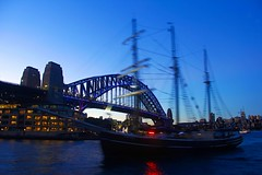 Sydney Harbour (rachFNQ) Tags: nightphotography bridge water night sailing harbour yacht sydney australia nsw sail sydneyharbour sydneyharbourbridge