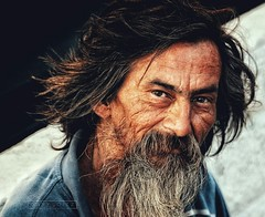 Old man close to where I live (gary.loitz.photo) Tags: street old city portrait people urban man color colour detail face canon beard person eyes shoot expression candid grunge homeless wise stare capture sl1