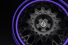 VXS110 | Satin Black Candy Purple