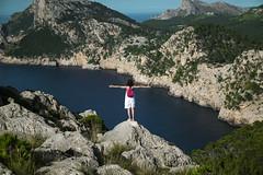 *** (shadobb) Tags: portrait travel girl sea green mountain mallorca spain europe sony