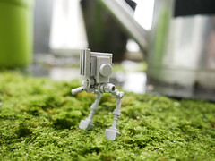 lego micro AT-ST - atana studio (Anthony SJOURN) Tags: green water rain garden studio star eau lego pluie drop micro anthony wars goutte atst atana sjourn