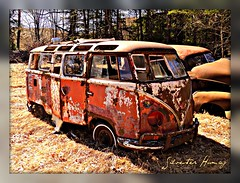 Volkswagen Microbus (sixty8panther) Tags: auto old 2 two orange usa bus classic ca