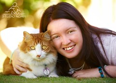 12/52 - Me and Scoota (ScootaCoota Photography) Tags: portrait orange cats sun white cute male grass animal cat myself outside photography photo hugging pretty photoshoot young adorable kitty fluffy sunny australia down tags photograph perth shade aussie collar weeks lying challenge 52 scoota coota