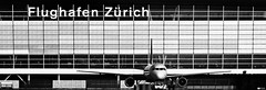 Zurich Airport (I) (Daniel Wildi Photography) Tags: building monochrome hub airplane switzerland airport swiss workshop zrich flughafen airlines zurichairport 2012 kloten zrh skyguide cantonofzurich visipix danielwildiphotography fotoschulebaur