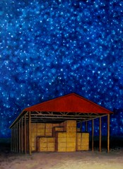 Roof (David Carmack Lewis) Tags: night stars landscape hay oils