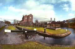 Titford Pump House & Canal (dotcomjohnny) Tags: nikoncoolscanved 16mmfisheye nikonf4e