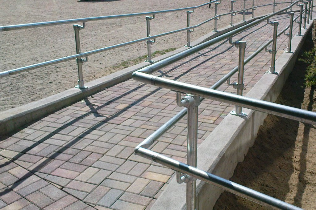 Disability Portable Handrails : Handicap handrail easy to install ada compliant railing