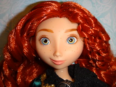 Classic Brave Merida 11'' Doll - Deboxing - Attached To Backing - Closeup Front View (drj1828) Tags: classic us store inch doll 11 disney merida brave poseable deboxing