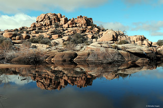 Rocks and reflection