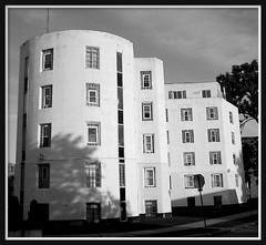999 Whitmore Road--Detroit MI (pinehurst19475) Tags: city urban bw white building architecture modern noiretblanc detroit shapes architect artdeco deco minimalist palmerpark nationalregister blackandwhitephotos nationalregisterofhistoricplaces castconcrete nrhp blackandwhitearchitecture blackwhitephotos precastconcrete whitmoreroad nrhpdistrict83000895 999whitmore 999whitmoreroad talmagehughes