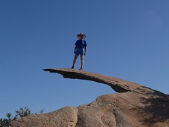 130 Vicki on Potato Chip Rock (_JFR_) Tags: hiking mount woodson woodsonmountain mountwoodson mtwoodson potatochiprock