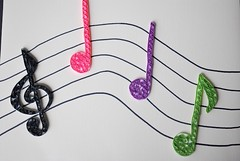 Quilled music staff (Jenstermusic) Tags: craft quilling musicnotes quilled musicstaff quilledmusicnotes