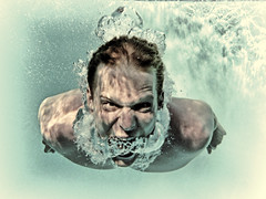 A Primal Scream (Jeff Clow) Tags: holiday man swimming dallas texas underwater expressions scream dfw yelling emotions yell primalscream primal inv theprimalscream