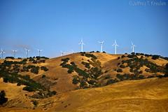 California Wind Power Generation (Jeff Kreulen) Tags: california blue white green windmill grass gold power hill electrical generation losbanos sanluisreservoir colorphotoaward