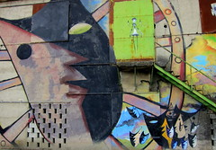 THE FEDERICO GARCA LORCA MURAL (Rich Eye--In Italy) Tags: mural digitallymodified richeye fuentevaquerosandalusiaspain birthplaceofgarcalorca lorcapaintingonwall