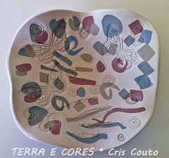 Prato Borboletas- Modelagem (cris couto 73) Tags: ceramica ceramic plate clay prato porcelain porcelana marmorizado