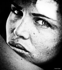 redux II  the cropped  (Nassia Kapa) Tags: portrait woman face female contrast dynamic artistic dramatic femaleportrait highcontrastportrait nassiakapa