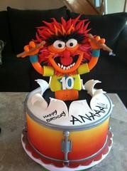 Animal! (ChrisJack1) Tags: birthday animal cake drum 10 muppet airbrush drumsticks
