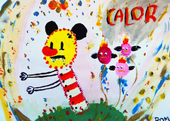 Calor * hot * chaleur (Roman da Costa) Tags: hot argentina monster painting buenosaires papel dibujo pincel pintura calor acrilico mostruo orejon