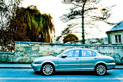 Very Cold Jaguar S-Type (Charles SEGUY photography) Tags: auto street blue cold art colors car photo nice flickr voiture creativecommons jag effect array dx lightroom stype tousdroitsrservs d3100 charlesseguy wwwlelabodelasouriscom charlesseguynikonphotograph wwwcharliephotofr