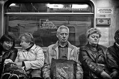 Metro #2 - Kiev, Ukraine May 2012 (Grey Photography) Tags: city bw train underground subway europe metro transport tube may trains ukraine east eastern kiev kyiv easterneurope 2012 52012