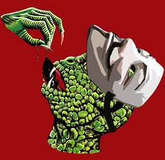 Camiseta (t-shirt) V, tras la mscara (Tocamisetas) Tags: television raton alien version v come mascara comer donovan anonymous lagarto serie vendetta careta rata crossover extrate