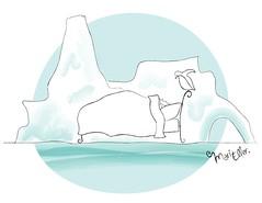sonhos de inverno (Mari Eller) Tags: cold ice gelo illustration penguin bed dreams iceberg ilustrao frio pinguim