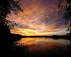 Magic Water (Ph0tomas) Tags: trees sunset sky lake newmexico water clouds sunrise reflections river stream riogrande landofenchantment mygearandme