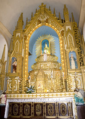 Saligao Church Main Altar, Goa, India (Joel's Goa Pics) Tags: church altar saligao maededeus