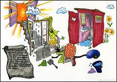 Lotta städar (mmoborg) Tags: colour ink comics sweden drawing humor cartoon humour fantasy sverige doodles markers serie tusch 2012 teckning fantasi mmoborg mariamoborg