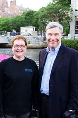 Senator Sheldon Whitehouse at WaterFire - Gaspee Day - Photo by Emily Chadwick
