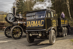 Back in black (Blaydon52C) Tags: tarmac steam beamish stanley fowler sentinel colliery steamfair countydurham tractionengine historicvehicles steamwagon
